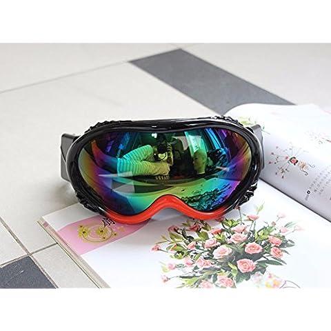 ZHGI Occhiali di equitazione motocross occhiali occhiali da sci occhiali due-box colore,un