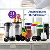 TSS Amazing Bullet Blender Mixer High Speed Grinder Juicer & Chopper 21 Piece amazing blender set Multi Purpose for Kitchen