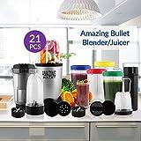 TSS Amazing Bullet Blender Mixer High Speed Grinder Juicer & Chopper 21 Piece amazing blender set Multi Purpose for Kitchen (Silver/black))
