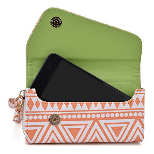 Kroo Pochette/étui style tribal urbain pour Nokia Asha 310 White and Orange White and Orange