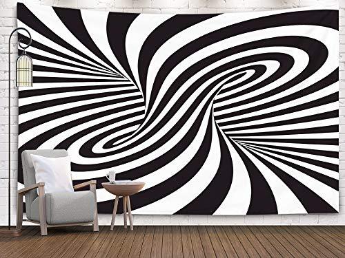 Crannel Gestreifter Abstrakter Hintergrund Zebra Print Wandteppich 152,4 x 127 cm Wandbild Wandteppich Wandteppich Hängevorhänge für Wohnheim Zimmer Wohnzimmer Dekoration 60