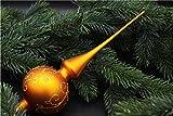 Christbaumspitze Baumspitze Spitze Aufstecker für Tannenbaum und Weihnachtsbaum als Dekoration (gold)