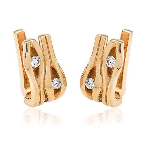 Gioiello Italiano - Orecchini in oro rosé 18kt con diamanti 0.4ct