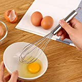 from joyliveCY 8 Inch Egg Beater Stainless Steel Whisk