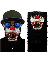 BJ Global Multicolor Magic Mode Tête Masque visage Impressionnante Bouche Bandeau pour moto Headwear motard Magic Foulard foulards Bandana