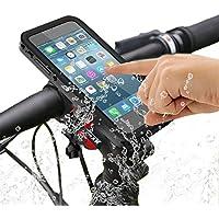 Bicicleta Soporte, SGODDE Exterior Resistente al Agua Carcasa Antigolpes Manillar de Bicicleta Soporte para Teléfono Móvil Cuna - Pinza con 360 Grados para iPhone 7 Plus/6 Plus iPhone 7 Plus