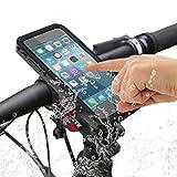 Fahrrad Handyhalterung,SGODDE Outdoor Wasserdicht Hülle stoßfest Fahrrad-Lenker Handyhalter Wiege Klammer Mit 360 Grad drehbar für iPhone 7 plus