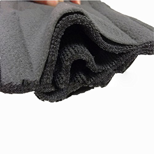 Healifty 6pcs waschbare Windel 5-lagig Einsätze Wiederverwendbare Stoffwindel Windeleinlagen Liner für Neugeborenen Baby (schwarz)