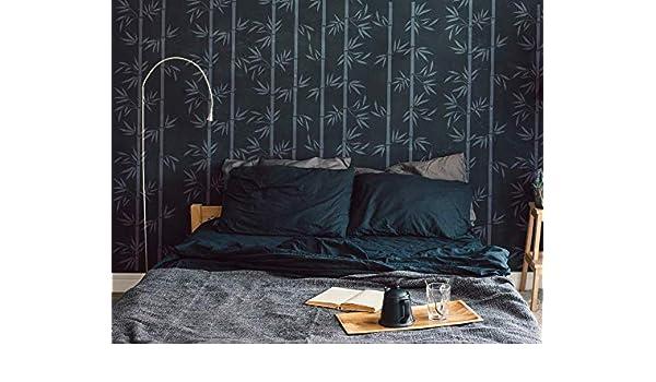 Heim Dekorieren Bambus Muster Schablone Groß Malen Wiederverwendbar