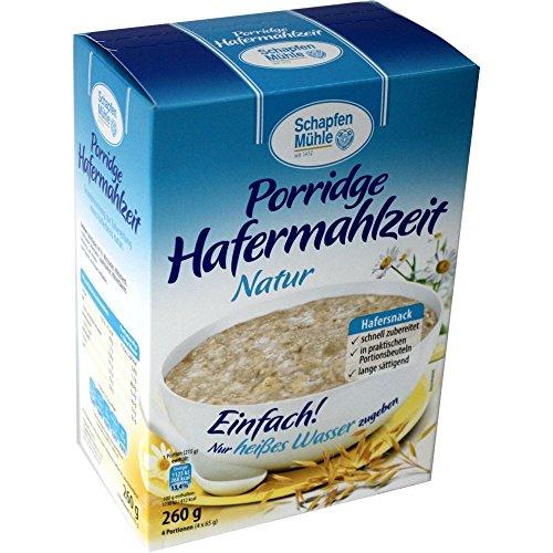 Schapfen Mühle Porridge Hafermahlzeit Natur (260g Packung)