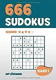 666 Sudokus: Rätselbuch mit 666 schwer zu lösende Sudoku Puzzle Rätsel im 9x9 Format mit Lösungen | DIN A4 | Band 1 - Visufactum Rätsel