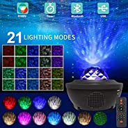 Formonix Laser Star Projector,LED Night Light Starry Projector with Nebula Cloud,3 in 1 Sky Ocean Wave Project