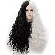ATAYOU-WIG 2 tonosLas mujeres largas rectas y rizado rizado literas Anime Cosplay pelucas (