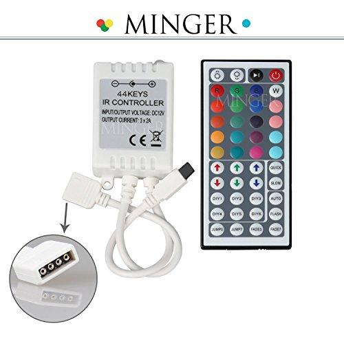 Minger 44 Clés IR Contrôleurs Lumière Télécommande pour RVB LED Ruban Lumineuse 5050 SMD 3528 SMD