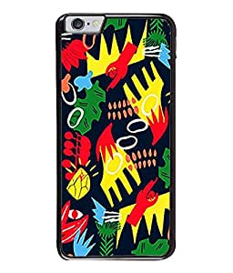 FUSON Designer Back Case Cover for Apple iPhone 6S (Multi Colourfull Wall Arts Frames)
