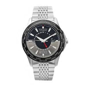 Gucci Timeless YA126211 Silver Steel Bracelet & Case Men's Quartz Watch