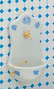 Küchen-Waschbecken, Delfter Blau