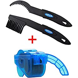 Godea Kit de Limpieza de Cadena de Bicicleta, Fácil y Rápido de Limpiar Cadenas, Cepillo de Limpieza, Cepillo de Mantenimiento, Azul