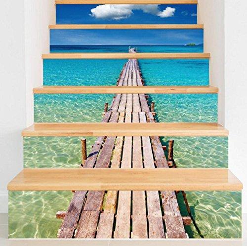 GPFDM DIY Strand-Pier-Wasserdichte Treppen-Aufkleber-Dekoration-Umweltschutz PVC-Tapete