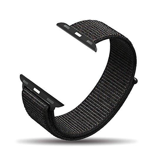 Para Apple correa de reloj de 38mm 42mm, Corki Tejido nailon deporte Loop banda muñequera pulsera de recambio para iWatch Apple Watch Series 3, Series 2, Series 1, Nike +, Edition