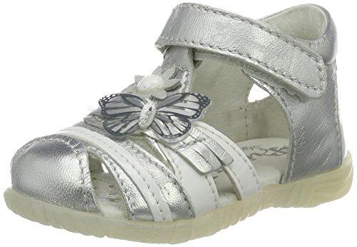 Primigi Baby Mädchen Pbf 7043 Lauflernschuhe, Silber (Argento/Bianco), 22 EU (Silber-ferse Schuhe)