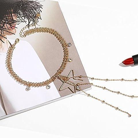 Bijoux, women's clavicule chaîne, pendentif, Collier Star collier accessoires