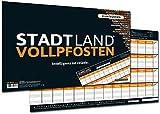 DENKRIESEN DEN40808 Stadt Land Vollpfosten-Spielblock (DIN A3-Format), XXL, Brettspiel