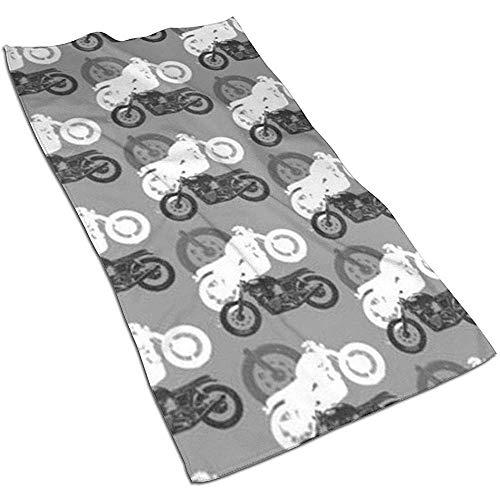 Motorräder Moto Madness Mikrofaser Haartuch,Einzigartig Designtes Bedrucktes Handtuch,Yoga Ist Eine Gute Wahl,Schnell Trocknendes Handtuch,Sporthandtuch,30X70 cm