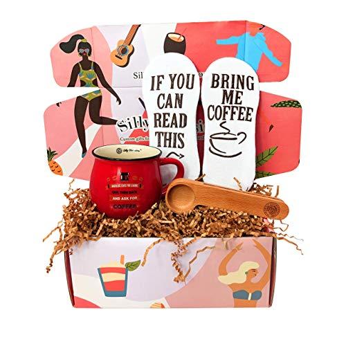 on Silly Obsessions. Geburtstagsgeschenkkorb für Vater, Ehemann, Ehefrau, Vater. Geschenkkarton Set für Kaffeeliebhaber zum Vatertag Coffee Lover Box Standard rot ()