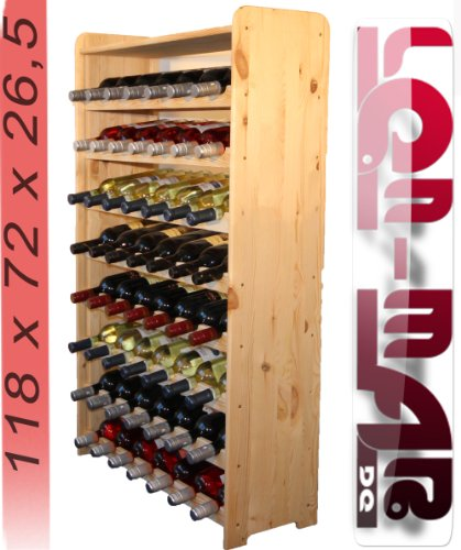 Weinregal Weinregal Holz Flaschenregal für 56 Flaschen RW-3-56