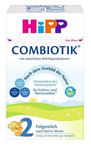 HiPP 2 Bio Combiotik, Folgemilch nach dem 6. Monat, 4er Pack (4 x 600 g)
