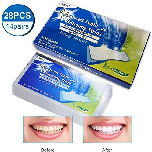 iFanze White Strips, Bleaching Strips, Zähne Aufhellen, Zahnaufhellung Weiße Zähne, Professionellen Aufhellung in 14 Tagen