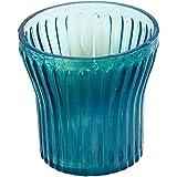 Anasa Decorative Glass Candle Holder (6.99 cm x 6.99 cm x 6.99 cm, Sky Blue)