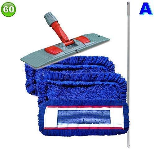 Set mit 3 Wischmopp Wischmop Acryl Industriequalität waschbar in 40 50 60 80 cm (60 cm)