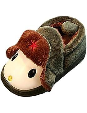 ❆Huhu833 Nette Kleinkind Bogen Baby Mädchen Jungen Plüsch Weiche Sohle rutschfeste Warme Samt Schneeschuhe