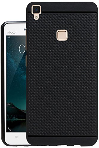 Jkobi® 360* Protection Premium Dotted Designed Soft Rubberised Back Case Cover for Vivo V3 -Black
