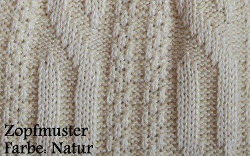 Kurze Trachtensocken lederhosen Trachtenstrümpfe Zopfmuster Socken Natur, Größe:44-46 - 3