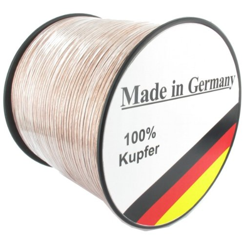 Lautsprecherkabel transparent 2,5mm² – 50m – Qualitätsware Made in Germany – Reines Kupfer