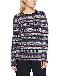 Fjällräven Women's Ovik Folk Knit W Sweater, Uncle Blue, X-Small