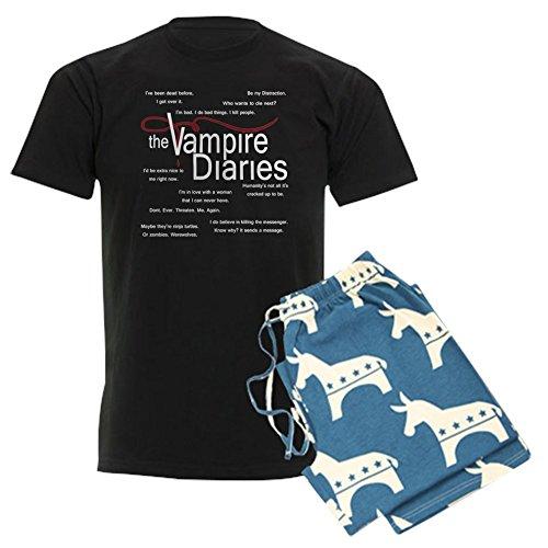 CafePress-Vampire Diaries Quotes Herren 's Dark Schlafanzüge-Unisex Neuheit Baumwolle Pyjama Set, bequemen PJ Nachtwäsche Gr. XX-Large, with Democrat Pant -