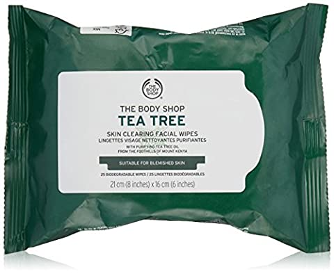 The Body Shop Tea Tree Cleansing Wipes 25 Wipes