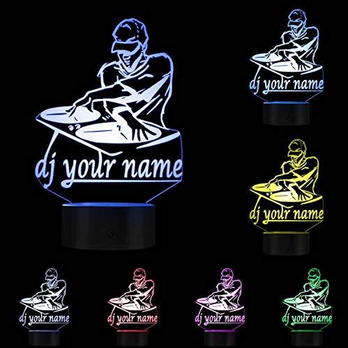 Nuit Lumières Vision Illusion Lampe Disco Dj Collier Veilleuse Lampe Créative Dj Platine Musique Club Fête Éclairage Décoratif
