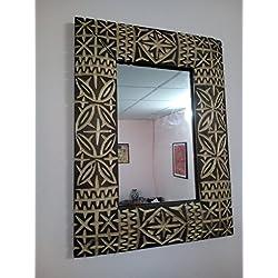 Espejo Marco de Pared de Madera Tallada Marruecos 1215Moroccan marroquí étnico Africano Manualidades Hand Made
