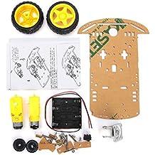 DollaTek Smart Motor Robot Car Battery Box Kit de Chasis Speed Encoder para Arduino