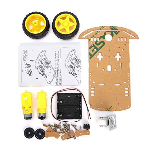 DollaTek Smart Motor Robot Car Battery Box Kit de Chasis Speed ​​Encoder para Arduino