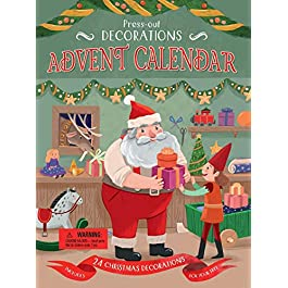Press-Out Decorations Advent Calendar: Includes 24 Christmas Decorations for Your Tree