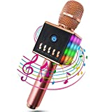 Karaoke Mikrofon, MODAR Karaoke Mikrophon Bluetooth 4.1 mit schönem Licht, Android /IOS, PC, Ideal für Musik abspielen und singen,drahtloses Karaoke Mikrofon Kinder