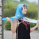 Reefa Kreative Regenschirm Regenmantel, Erwachsene Kids Outdoor Regenmantel Cover Transparente Schutz S/M/ L