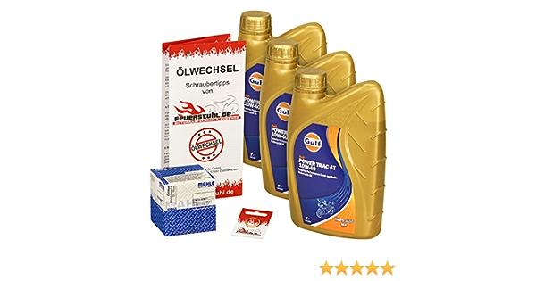 Gulf 10w 40 Öl Mahle Ölfilter Für Honda Ntv 650 Revere 88 97 Rc33 Ölwechselset Inkl Motoröl Filter Dichtring Auto