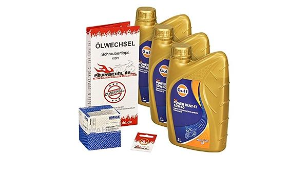 Gulf 10w 40 Öl Mahle Ölfilter Für Honda Cbf 1000 F 06 12 Sc58 Sc64 Ölwechselset Inkl Motoröl Filter Dichtring Auto
